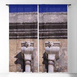 Gargoyle, Spout - Old roof gutter - Lisbon 1903 Building - 20th century Blackout Curtain