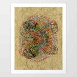 Butterfly Overlay Art Print