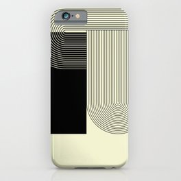 Abstract 20 - B&W Shapes Lines iPhone Case