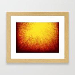 Linear Radial Sunset Framed Art Print