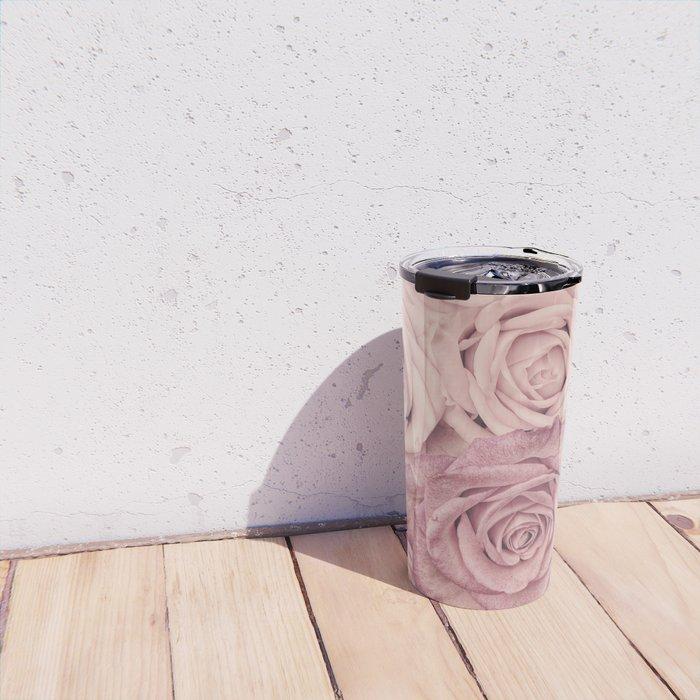 Some People Grumble - Pink Rose Pattern - Roses Travel Mug