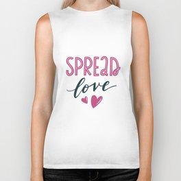 Spread love. Hand-lettered love quote print Biker Tank