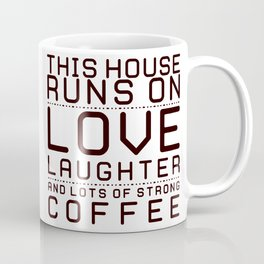 This House Runs on Coffee Block Coffee Mug