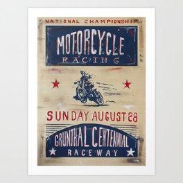 Grunthal Centennial Raceway Art Print