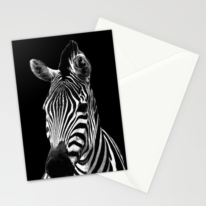 Zebra Black Stationery Cards
