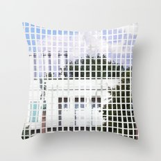 windows- vacancy zine Throw Pillow