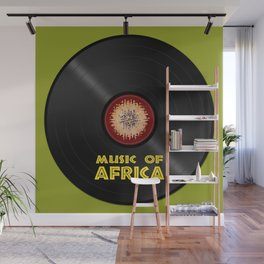 Vinyl record. Music of Africa Wall Mural
