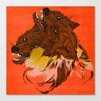 wolves Canvas Prints featuring Wolves by Sarah Howell