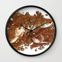 giants Wall Clocks featuring Lucky Giants by KZjl
