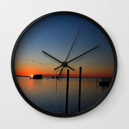 Sunset Migration Wall Clock
