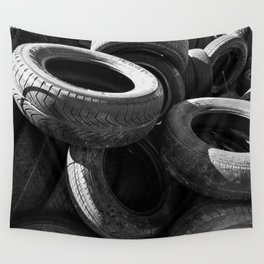 Tires on Tires Wall Tapestry