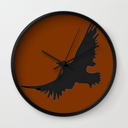 COFFEE BROWN FLYING BIRD SILHOUETTE Wall Clock