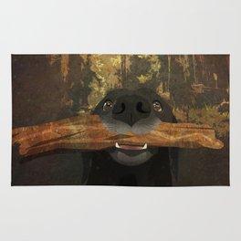 Playful Labrador Rug