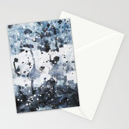 indigo: abstract painting Stationery Cards