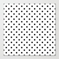 dots Canvas Prints featuring Dots by Kings in Plaid