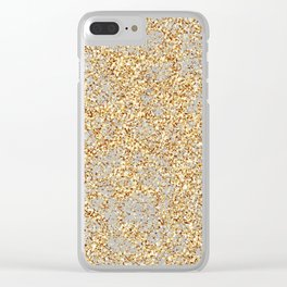Gold Thread on Black | Abstract Brain Map 3 Clear iPhone Case