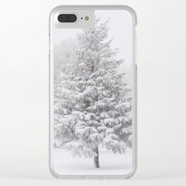 Whiteout Clear iPhone Case