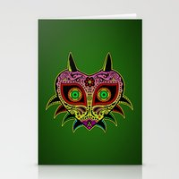 majoras mask Stationery Cards featuring Sugarskull / Majoras mask /color by tshirtsz