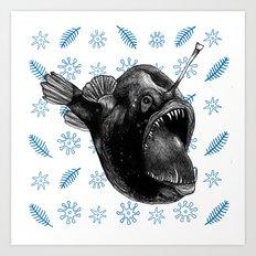 Ms Anglerfish Art Print