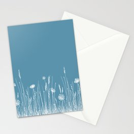 Blue Meadow up close Stationery Cards