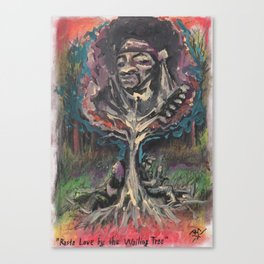 Rasta Love by the Wailing Tree Canvas Print