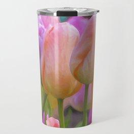 Spring Pastel Tulips Travel Mug