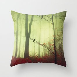 mysteriOns - surreal forest scene Throw Pillow