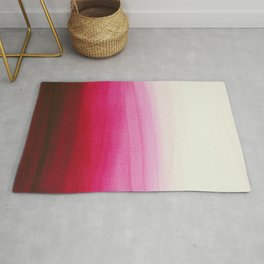 Dip dye in shades of red Rug