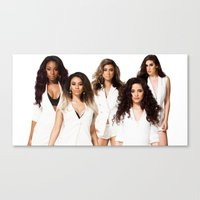 fifth harmony Canvas Prints featuring Fifth Harmony by Raquel S