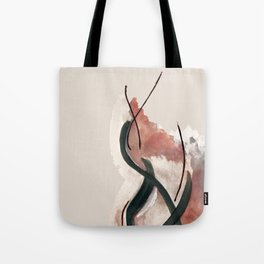 Storm: a minimal abstract mixed media piece in red white and blue Tote Bag