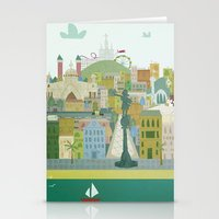 barcelona Stationery Cards featuring Barcelona by LaPendeja
