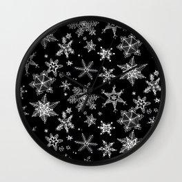 Snow Flakes 07 Wall Clock