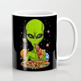 Alien Eating Pizza Coffee Mug
