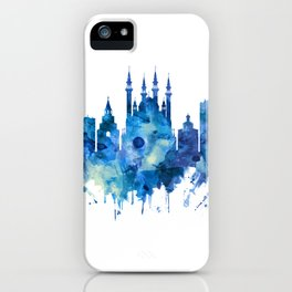 Kazan Russia Skyline Blue iPhone Case