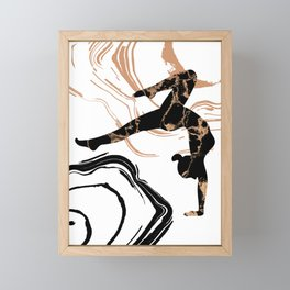 Yoga Time, Silhouette Of A Sexy Young Woman Practicing Yoga Framed Mini Art Print