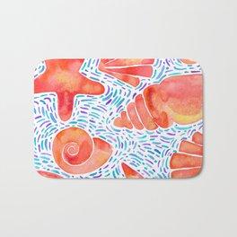 Seashell orange Bath Mat