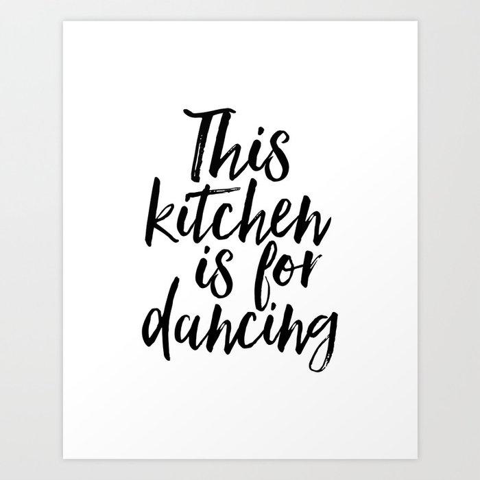 Kitchen Wall Art Kitchen Decor Funny Kitchen Print This Kitchen Is