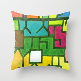 The Filling Line Throw Pillow