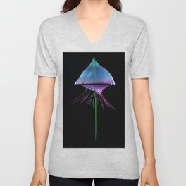 Blue Jelly Fish Unisex V-Neck
