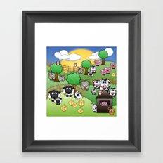 Down On Dingle Dopple Farm Framed Art Print