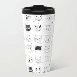 """Cats Heads"" Travel Mug"