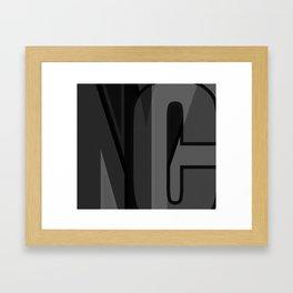 nyc typographic Framed Art Print
