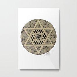 Triangle star Metal Print