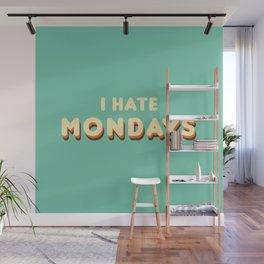 I Hate Mondays (Retro) Wall Mural