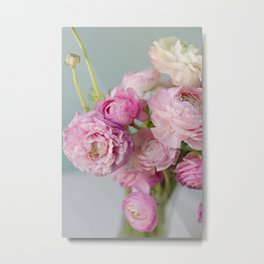 Pastel Ranunculus Metal Print