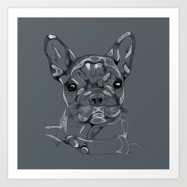 Sketchy Frenchie Art Print