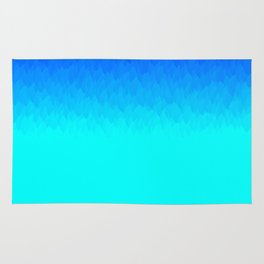 Electric Blue Ombre flames / Light Blue to Dark Blue Rug
