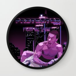 Van Damme vs. Robocop fighting spirit Wall Clock