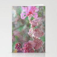 fringe Stationery Cards featuring Fringe Flower by Sandy Moulder
