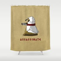 dalek Shower Curtains featuring Assassin's Dalek by mikaelak